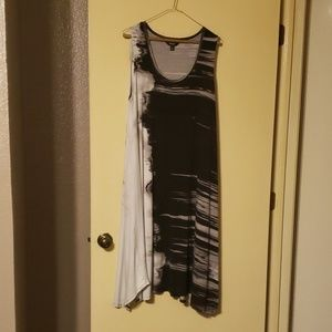 Vera Wang watercolor midi WITH POCKETS, XL